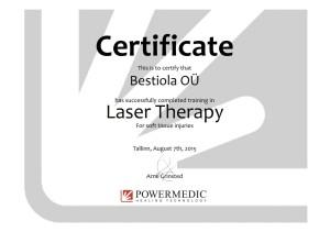 Powermedic Certificate